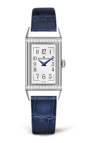 fake Jaeger LeCoultre Reverso Silver Dial Ladies Diamond Watch