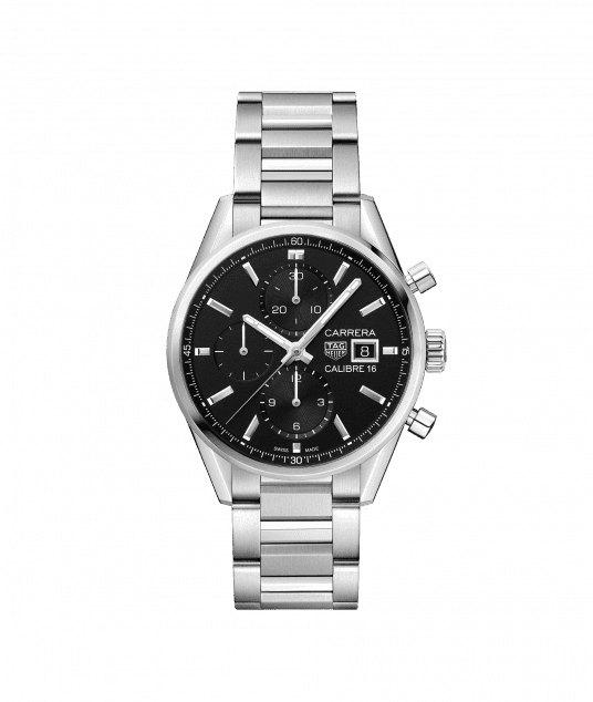 Copy TAG Heuer Carrera Calibre 16 Automatic Black Dial Ladies CBK2110.BA0715